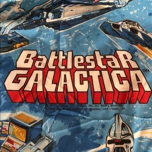* VINTAGE * Battle star Galactica twin sheet